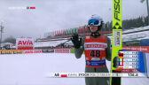 Skok Stocha z 1. serii sobotniego konkursu w Klingenthal