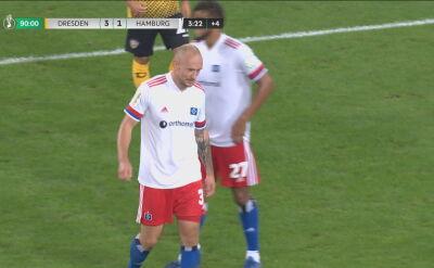 Leistner sprokurował karnego, Mai jedenastkę wykorzystał. HSV odpadło w 1. rundzie Pucharu Niemiec