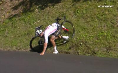 Kraksa Hirschiego na 18. etapie Tour de France