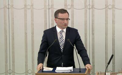 Ziobro: nie udawaliśmy, że chcemy pozorować reformę wymiaru sprawiedliwości