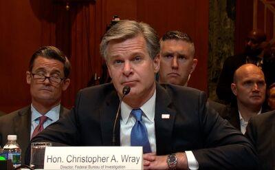 Dyrektor FBI zeznaje przed komisją Senatu