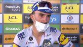 Alaphilippe po wygraniu 2. etapu Tour de France