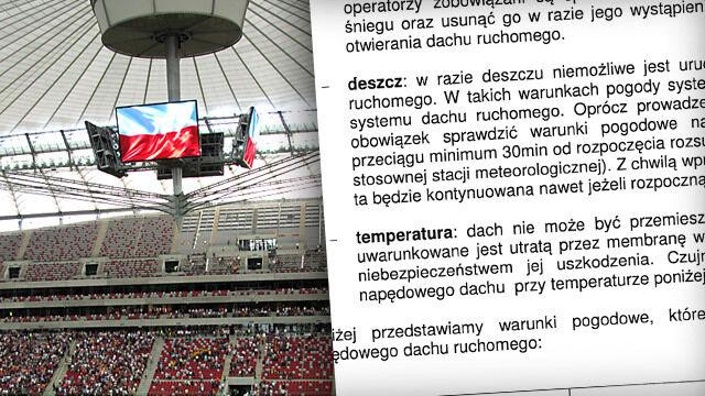 Według instrukcji dachu nie można rozsuwać w czasie opadów deszczu