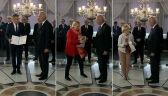 Europosłowie Koalicji Europejskiej podczas odbierania zaświadczeń o zdobyciu mandatu