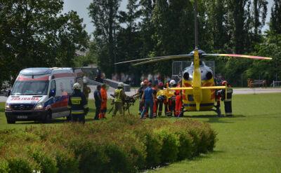 Ranne dziecko przetransportowano do szpitala dziecięcego w Toruniu