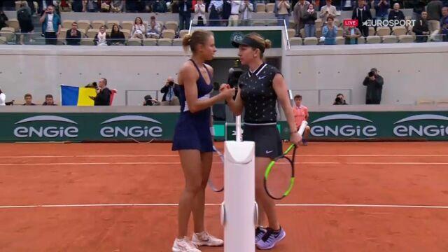 Simona Halep pokonała Magdę Linette w drugiej rundzie Roland Garros