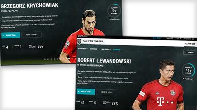 Dwaj Polacy kandydatami do Drużyny Roku UEFA. Lewandowski z wielkim poparciem