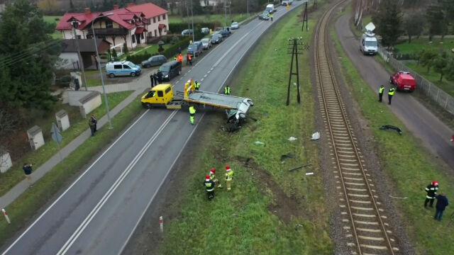 Były poseł zginął na przejeździe kolejowym.