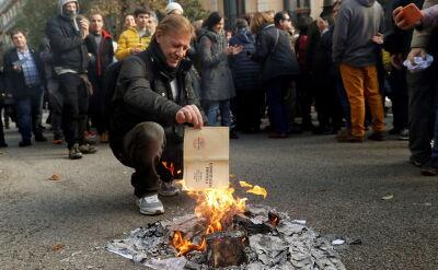 Separatyści baskijscy i katalońscy protestowali przeciwko konstytucji