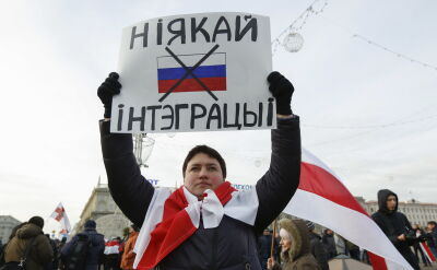Protest opozycji w Mińku przeciwko integracji z Rosją