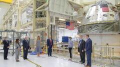Prezydent USA Donald Trump w środę przyleciał zobaczyć start rakiety Falcon 9