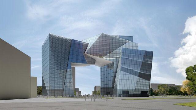 """Koncepcję architektoniczną """"Bramy Miasta"""" przygotował Daniel Libeskind"""