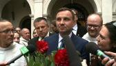 Prezydent elekt o oficjalnych wynikach wyborów dowiedział się w Częstochowie