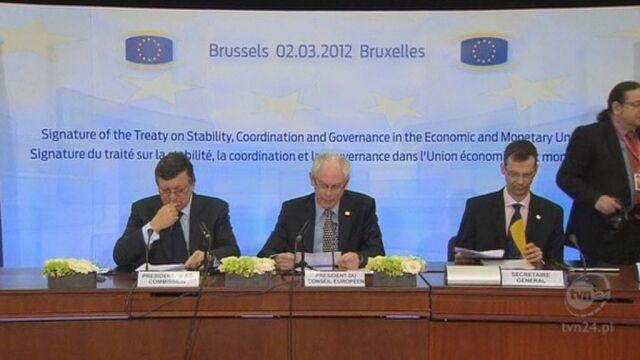 Herman van Rompuy o podpisaniu paktu