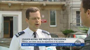 Policja: Nie mamy jeszcze zawiadomienia o przestępstwie
