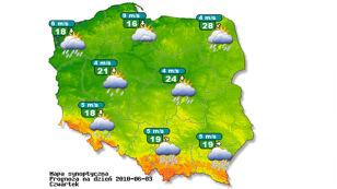 Konferencja IMiGW o pogodzie na czwartek i piątek