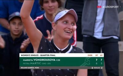 Vondrousova awansowała do półfinału Roland Garros