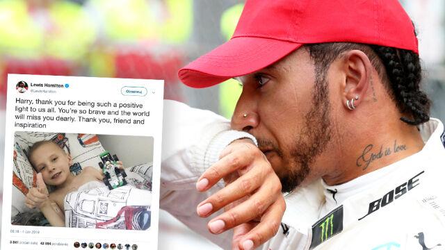 """""""Dziękuję, przyjacielu i inspiracjo"""". Hamilton pożegnał swojego fana"""