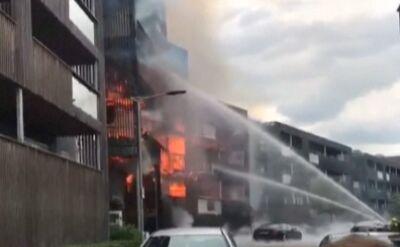 Potężny pożar budynku we wschodnim Londynie