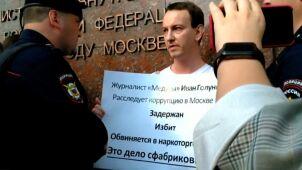 Protesty po zatrzymaniu dziennikarza.