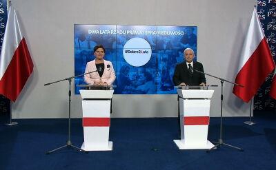 Jarosław Kaczyński podsumowuje 2 lata rządów PiS