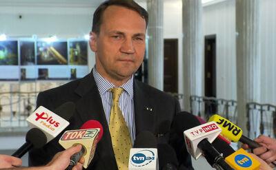 Sikorski: podjąłem decyzję o rezygnacji z funkcji marszałka Sejmu