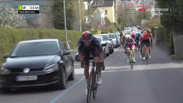 Najważniejsze momenty z końcówki 1. etapu Tour of the Alps