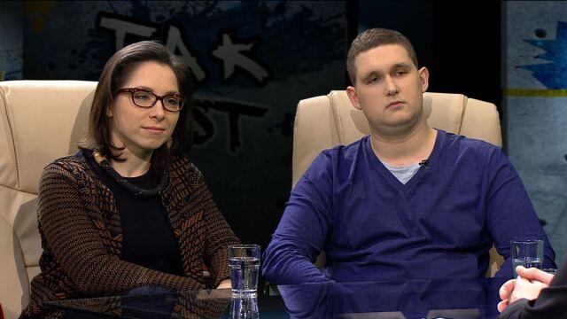 Katarzyna Szymielewicz i Dawid Kosiński w programie Tak Jest