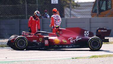 Ostatni trening na Monzie. Rozbity bolid Ferrari, Kubica w czołówce