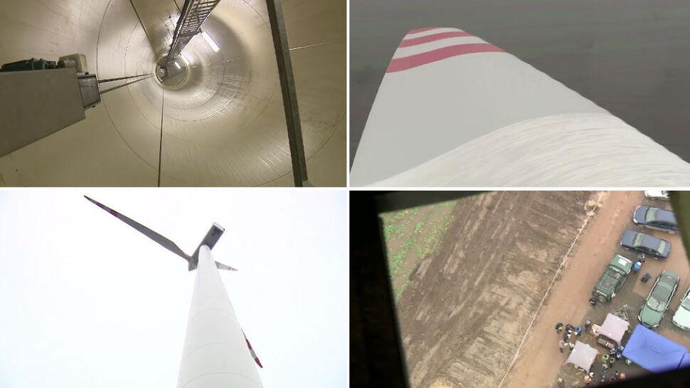 Zobacz świat z perspektywy elektrowni wiatrowej - 70 metrów nad ziemią