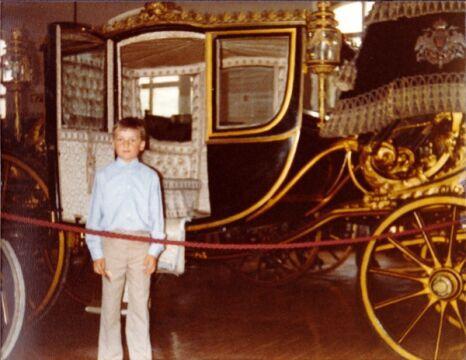 Mały Zbigniew Ziobro na wycieczce w Wiedniu