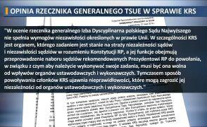 Rzecznik TSUE wydał opinie na temat powoływanej przez polityków KRS