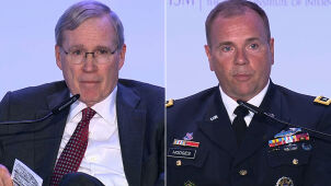 Stephen J. Hadley  and General Ben Hodges at the Global Forum