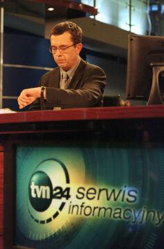 Warszawa, 11.09.2001, TVN 24, Grzegorz Miecugow. Dzień ataków terrorystycznych w USA
