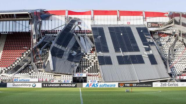 """Zawalił się dach na stadionie w Holandii. """"Jesteśmy zszokowani"""""""