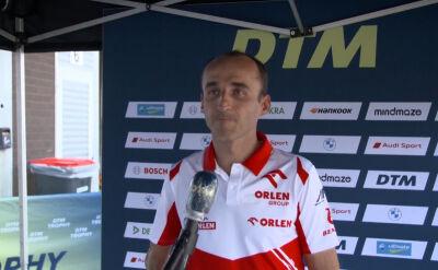 Kubica po sobotnim wyścigu na torze Spa w serii DTM