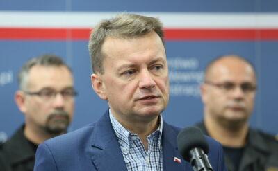 """""""Zarzuty opozycji są absurdalne"""". Minister Błaszczak o reakcji opozycji na policyjne działania w biurach Centrum Praw Kobiet"""