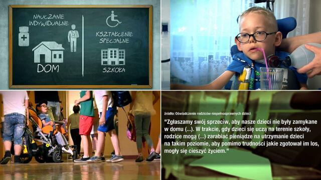 Koniec nauczania indywidualnego niepełnosprawnych dzieci.