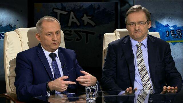 """Sławomir Neumann i Maciej Hamankiewicz w """"Tak jest"""""""
