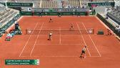 Świątek i Mattek-Sands przełamane w 7. gemie 2. seta finału gry podwójnej we French Open