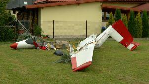 Uczył się pilotować szybowiec, zahaczył  o drzewo i spadł