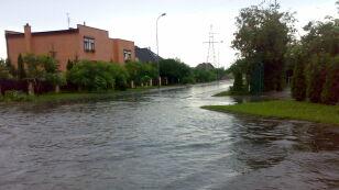 Tak w sobotę padało w Słubicach