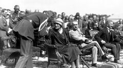 Marszałek Józef Piłsudski z żoną Aleksandrą. 8 sierpnia 1926 roku