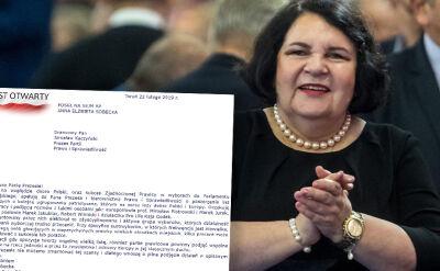 List Sobeckiej do prezesa PiS ws. poszerzenia list wyborczych do PE