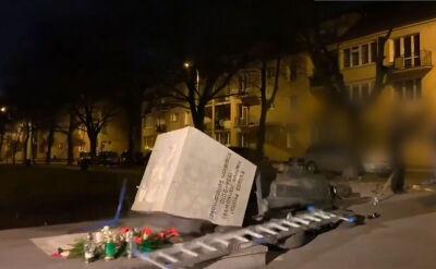 Zarzut dla mężczyzny, który obalił pomnik Jankowskiego