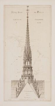 Notre-Dame, iglica 1860, akwaforta.