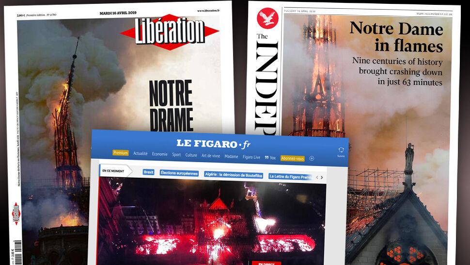 """""""Piekło pochłania Notre Dame"""", """"Serce w popiele"""". Europejska prasa o pożarze katedry"""