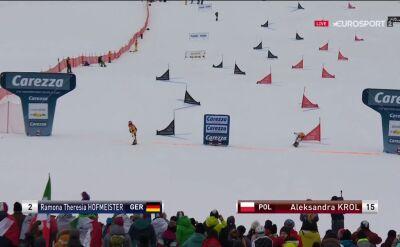 Król odpadła w 1/8 finału slalomu równoległego w Carezzie