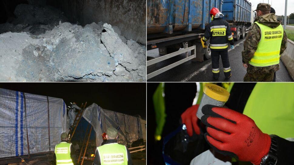 Kilkadziesiąt ton toksycznych odpadów wjechało z Czech do Polski. Nielegalnie