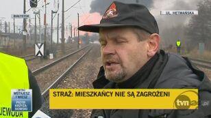 Gradkowski: pożar opanowany (TVN24)
